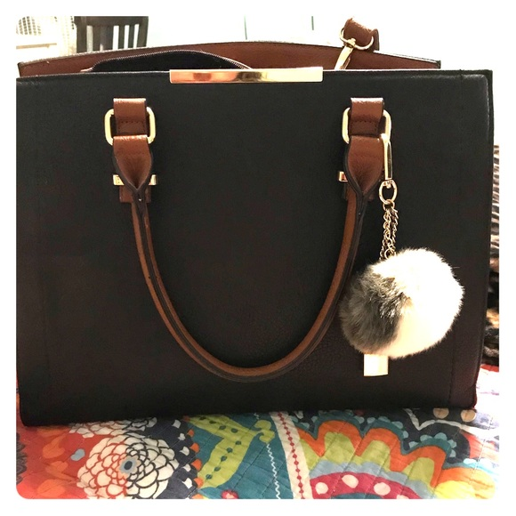 Call It Spring Handbags - Call It Spring Bag handles and strap with Pom Pom